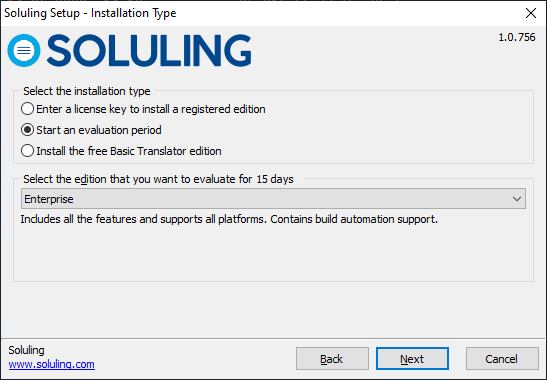 Install registeted Soluling